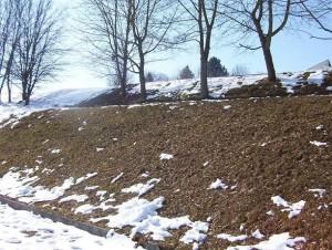 Bauplatz Winter 1