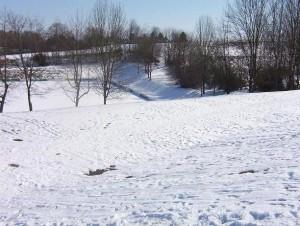 Bauplatz Winter 2